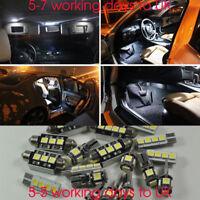 For VW Passat B5 00-05 LED Light Bulb Full Interior Kit Set White Error Free15Ps