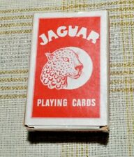VINTAGE JAGUAR PLAYING CARDS VINTAGE DECK - Made in Belgium