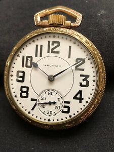 Rare Waltham 16-A, 21 Jewels 16s vintage USA pocket watch, working