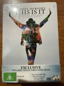 MICHAEL JACKSONS THIS IS IT- DVD 2-DISC COLLECTIBLE STEEL BOOK NEW SEALED
