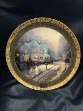"New ListingThomas Kinkade's ~ Cherished Christmas Memories Plate ""Limited Edition"""