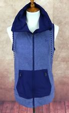 Under Armour Cold Gear Fitted Full Zip Infrared Hybrid Blue Vest Women's S