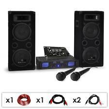 """EQUIPO SONIDO DJ PA """"DJ-25M"""" ALTAVOCES AMPLI MEZCLADORA MICROS CABLES 1600W"""