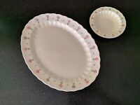 Vintage METLOX VERNON WARE  PINK LADY OVAL PLATTER CEREAL  MID CENTURY MODERN