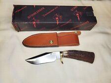 VINTAGE STAG BLACKJACK KNIFE (TRAIL GUIDE) HUNTING, CAMP, COMBAT ORIGINAL BOX