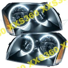 ORACLE Halo HEADLIGHTS BLACK for Dodge Magnum 05-07 WHITE LED Angel Demon Eyes