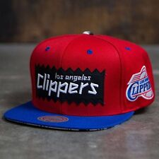 BAIT x NBA x Mitchell And Ness Los Angeles Clippers STA3 Wool Snapback Cap red r
