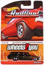 64 CHEVY NOVA STATION WAGON - 2016 Hot Wheels Heritage Redline