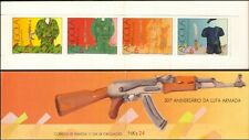 Angola 1991 Independence/Military/Soldiers/Uniforms/Weapons 4v bklt (n15996a)