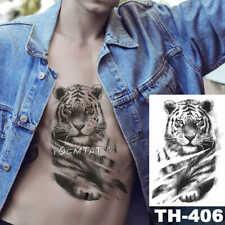 High Quality 21cm x 15cm Fake Temporary Tattoo Lying Tiger /-b286-/