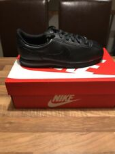 NUEVO Nike Cortez Leather-TRIPLE NEGRO-UK Size 5/UE 38