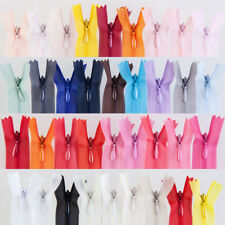 Length 8-24 Inch Nylon Zipper 3# Invisible Zippers Tailor Sewing Craft 28 Colors