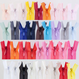 10pcs Colourful Handmade Close End Invisible Zippers pillow skirt Sewing tools