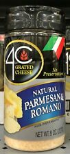 4C Imported Parmesan Romano Grated Cheese 8 oz. Jar Spaghetti Alfredo