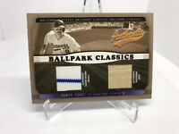 Robin Yount 2002 Fleer Authentix Ballpark Classics Game Used Jersey Seat Brewers
