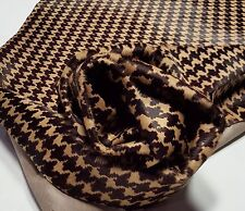 Leather cow hide golden brown houndstooth h.o.h. upholstery cowhdies ts-13030