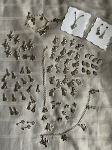 100 Christmas Tibetan Silver Charms Jewellery Making Tree Stocking Santa Icicle