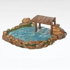 """Roman, Inc. ~ Fontanini """"Fishing Pond"""" ~ New ~ Mib ~ Great Accessory!"""