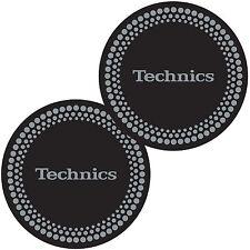 Slipmats Technics DMC Pois Argenté / noir (1 paire / 1 pair) mdot NOUVEAU + OVP