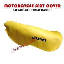 Suzuki TS125R TS200R Ts 125R 200R Amarillo Cubierta de Asiento con Logos