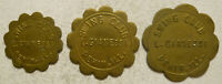 Set of 3 Swing Club - L. Gianessi (Pekin, Illinois) Good for Trade Tokens