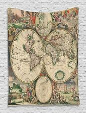 Ambesonne Globe Maps  Art Wall Hanging Tapestry mural 3370 60X80 photo backdrop
