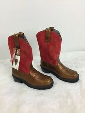 Ariat FatBaby Genuine Leather Mid Calf Cowboy Boots Women Big Girl Size 5.5