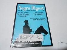 JULY 1967 NEGRO DIGEST magazine -  MYTH BAG - BLACK REVOLUTIONIST