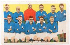 SCARCE 1920s BOYS MAGAZINE LARGE FORMAT SOCCER / FOOTBALL CARD. EVERTON F.C.