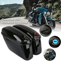 22L Moto dur Sacoche de Selle Sac Trousse Bagage Latérale TroncCas Pour Harley