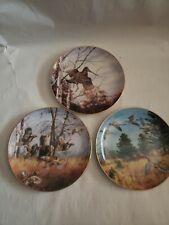 Set of 3 David Maass Game Bird Collection Plates