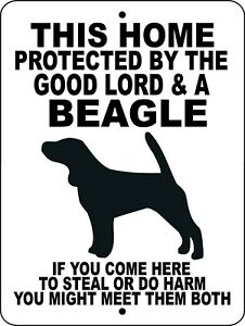 3003 Beagle 9 x 12 aluminum sign
