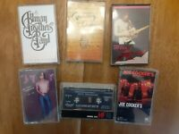 VINTAGE ROCK & ROLL CASSETTES LOT OF 6 (USED)