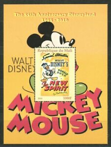 Donald Duck Movie Poster The New Spirit Souvenir Sheet 2010 Mali Disneyland 55