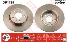 TRW Juego de 2 discos freno Trasero 251,5mm FIAT ALFA ROMEO 147 156 DF1739