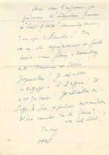 Louis-Ferdinand CELINE / Lettre autographe signée / Les libérateurs de 1945.