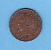 (BR.31) 10 CENTIMES NAPOLÉON III 1855 D LYON (TTB/SUP)