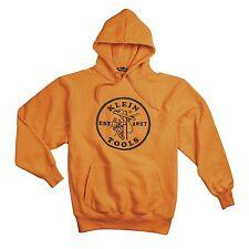 Klein Tools 96607ORGXL Hi-Viz Orange Hooded Sweatshirt - Extra Large