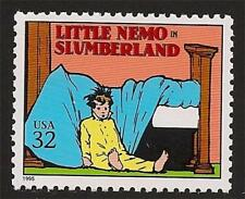 Little Nemo in Slumberland Winsor McCay 1905 Classic Comic Strip US Stamp MINT!