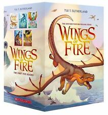 Wings of Fire: Wings of Fire Boxset Bks. 1-5 by Tui T. Sutherland (2015, Paperba