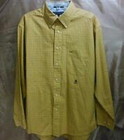 Tommy Hilfiger Long Sleeve Yellow Button Front Casual Shirt Size L 6/6 Plaid