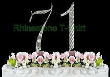 NEW Large Rhinestone  NUMBER (71) Cake Topper 71th Birthday Party Anniversary