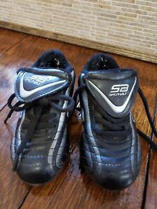 Spot-bilt Soccer cleats/Kids size 9 Black , Preowned, lightly used
