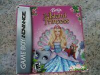Gameboy Advance Game GBA SP DSL ~ BARBIE as the ISLAND PRINCESS ~ 12 Mini-games