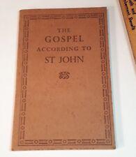 Vintage  WWII British and Foreign Services pocket St John Gospel- Excellent