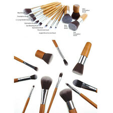 11pcs Bamboo Handle Makeup Brush Set Cosmetic Powder Foundation Soft Brushes