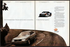 1989 AUDI Quattro Vintage Original 2 page Print AD Trans-AM SCCA photo Canada