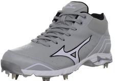 Mizuno 9 Spike Advanced Classic 7 Mid Baseball Cleats Footwear  Grey/White