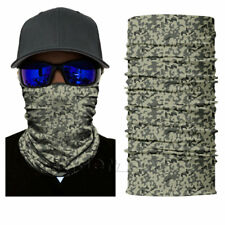 Grey Digital Camo Face Shield Sun Mask Balaclava Neck Gaiter Headwear UV