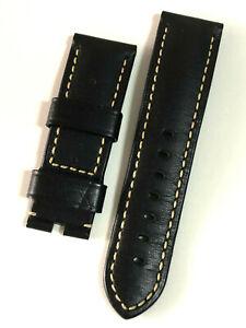 PANERAI - LEATHER BLACK 24mm STRAP 100% AUTHENTIC - BRAND NEW !